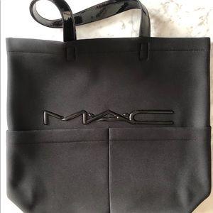 MAC Cosmetics Neoprene Black Tote Bag